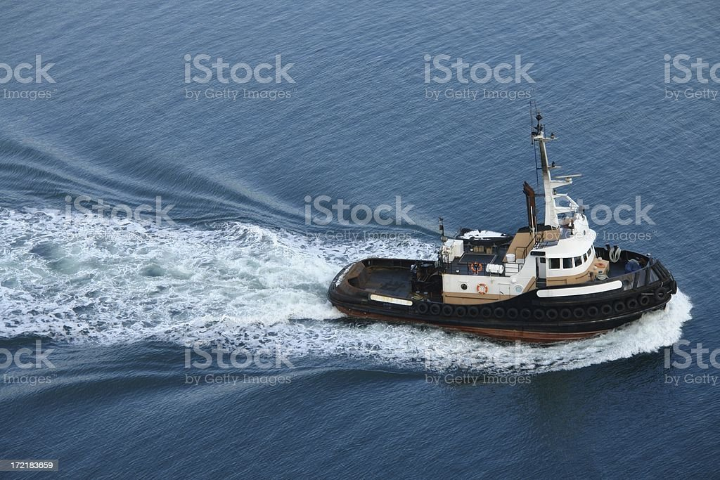 Tugboat In Vancouver royalty-free stock photo