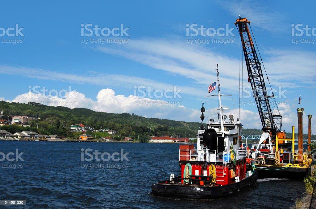 Tugboat Job stock photo