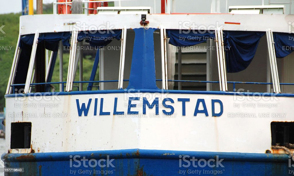 Tugboat named: Willemstad stock photo