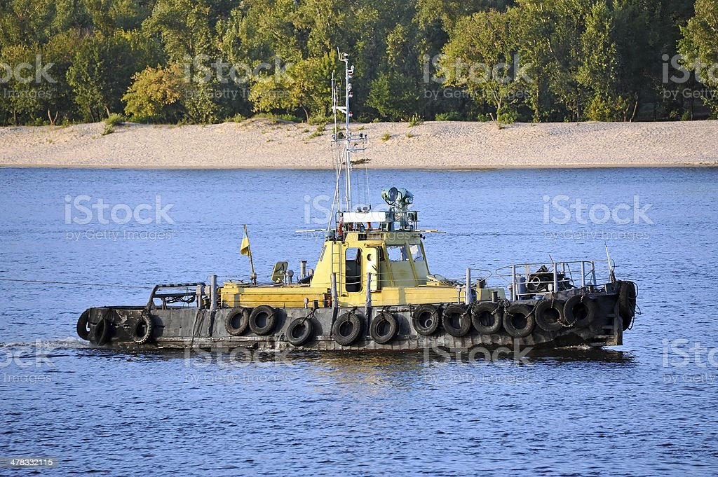 Tugboat royalty-free stock photo