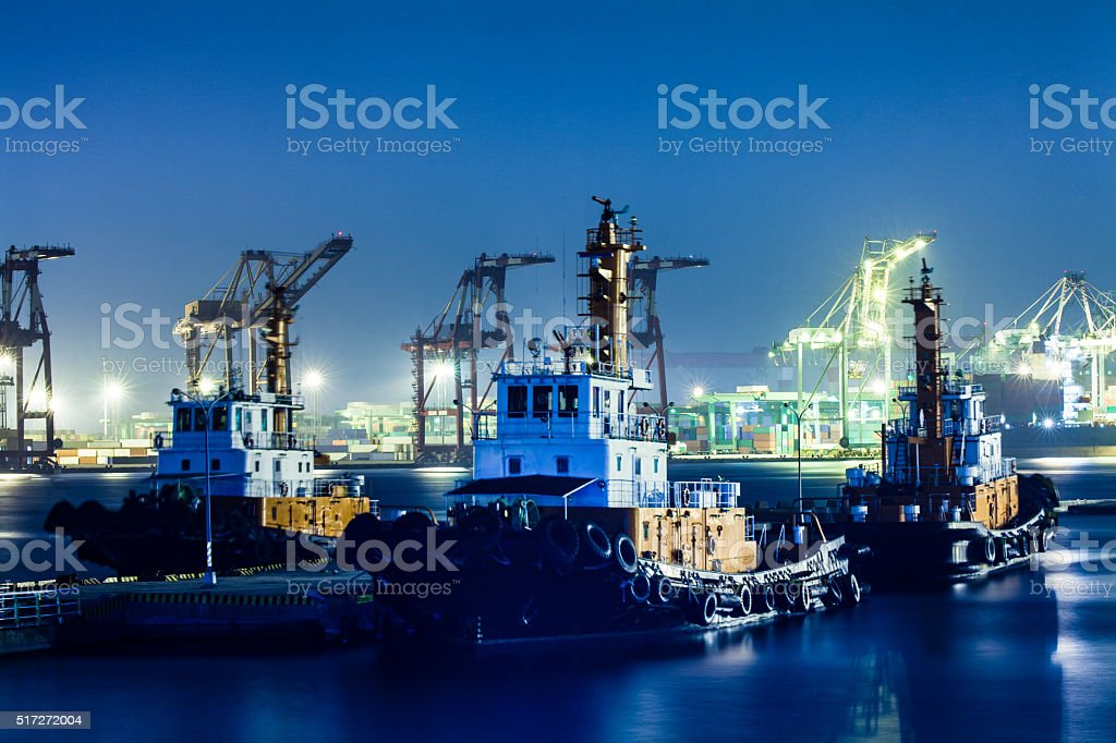 Tugboat. stock photo