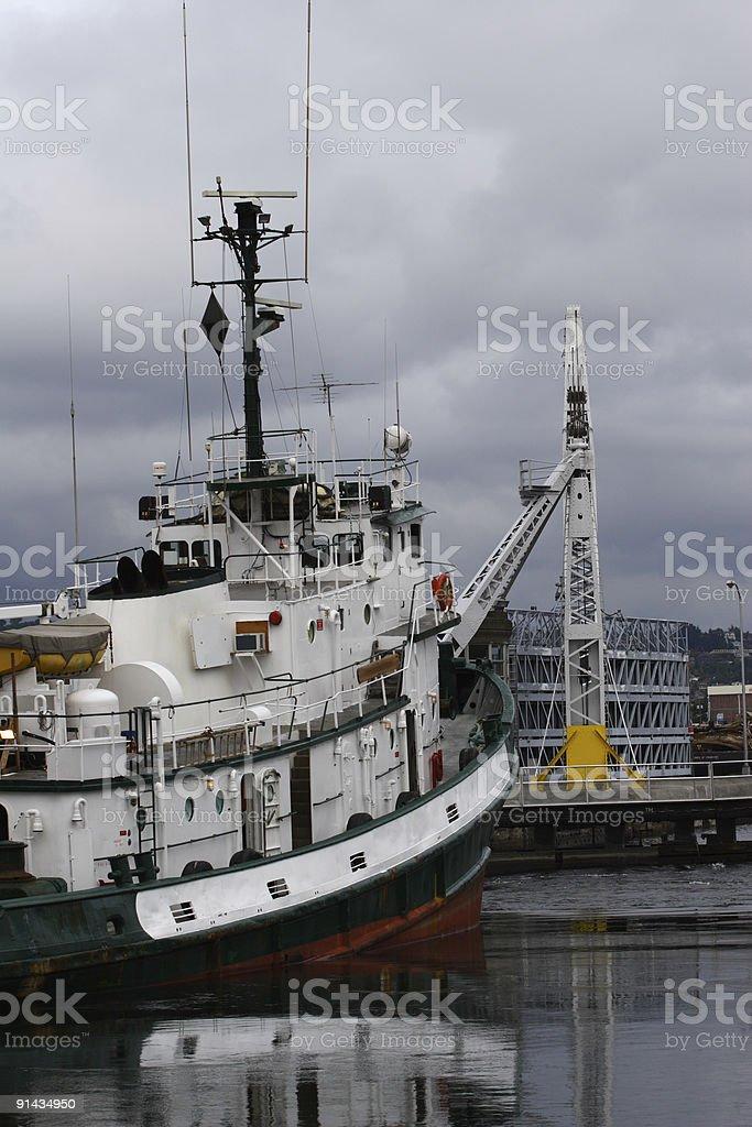 Tugboat Returns royalty-free stock photo