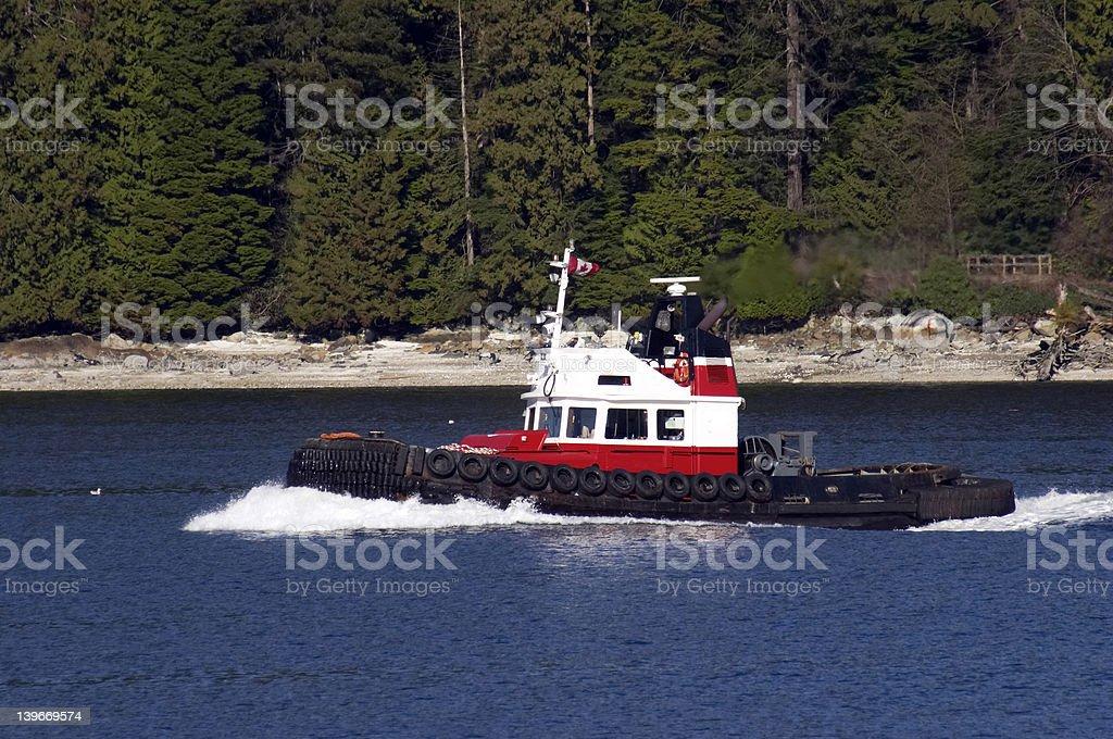 Tugboat Underway royalty-free stock photo