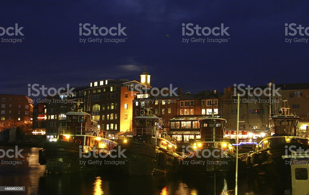 Tugboats In a Harbor stock photo