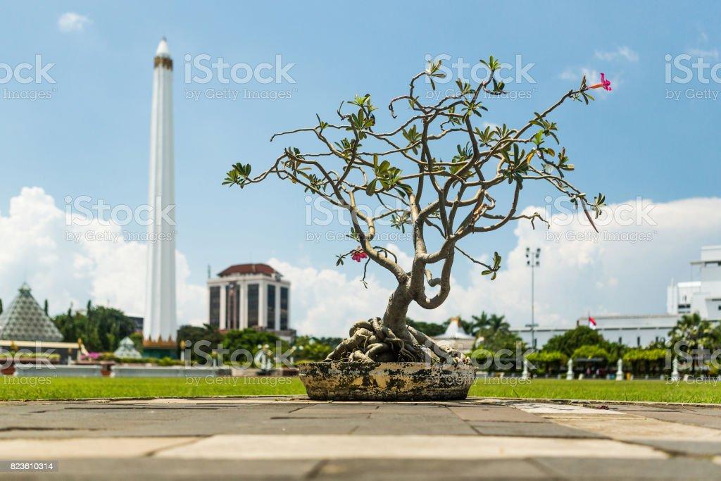 Tugu Pahlawan - National Monument in Surabaya, Heroes Day, East Java, Indonesia stock photo