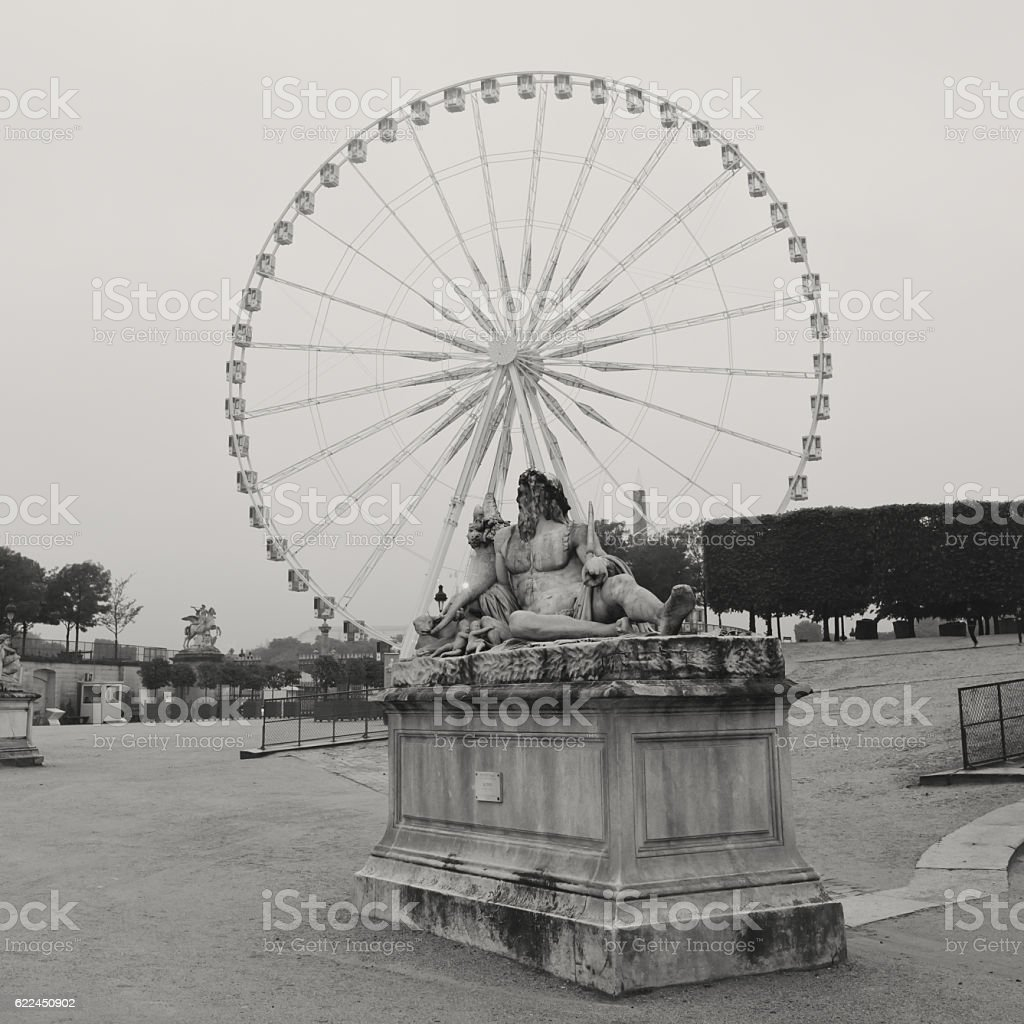 Tuileries Garden Sculpture stock photo