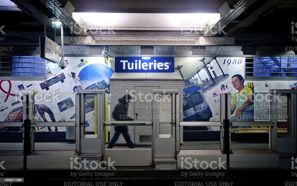 Tuileries Station, Paris Subway royalty-free stock photo