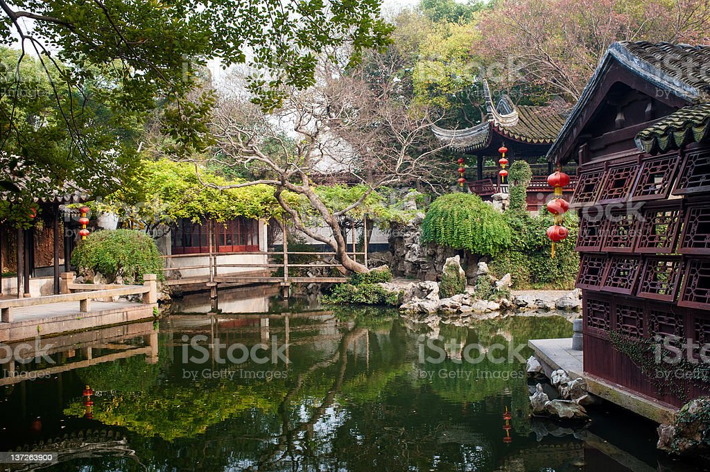 Tuisi Garden - backyard stock photo