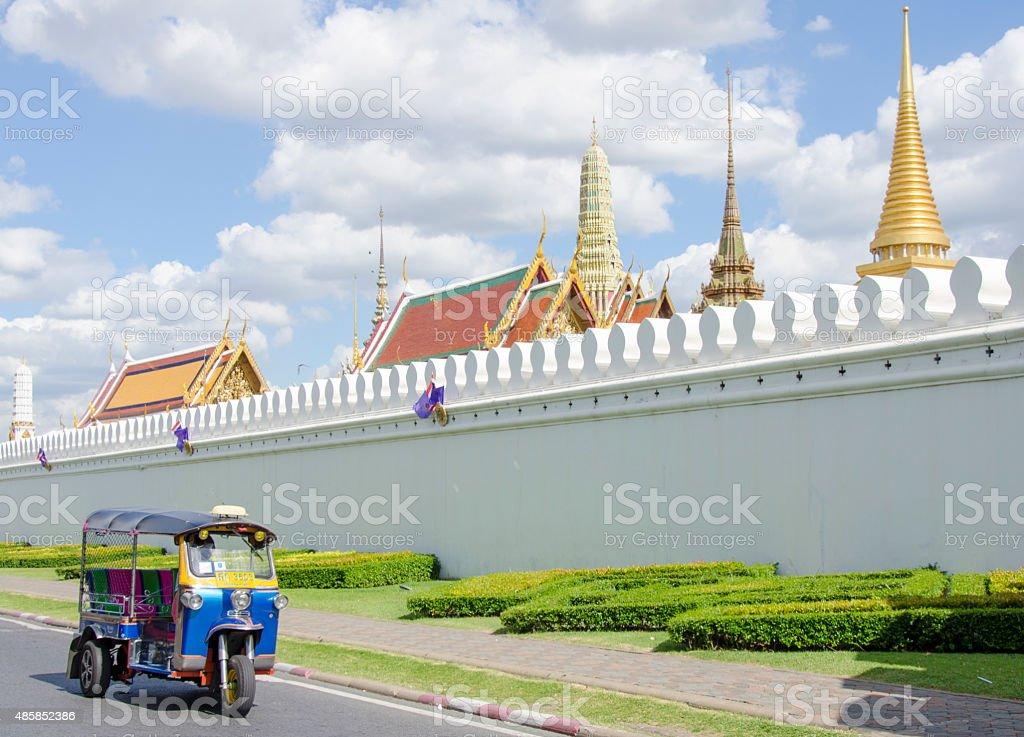 Tuk tuk for passenger stock photo
