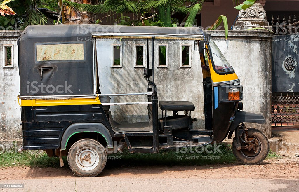 Tuk Tuk in India stock photo
