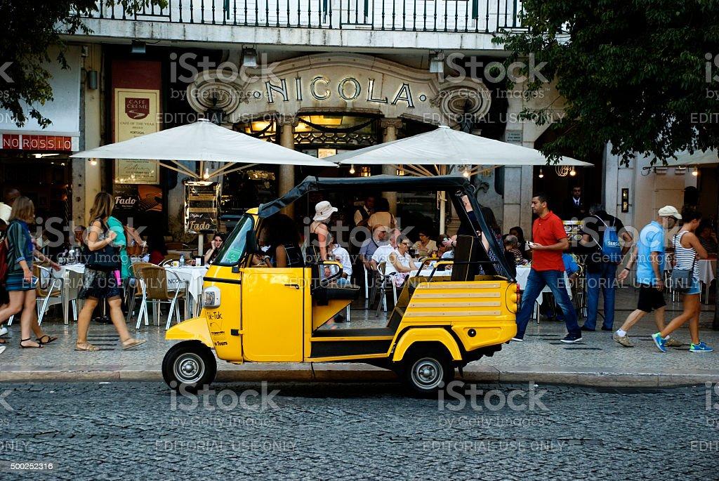 Tuk Tuk in Lisbon, Portugal stock photo