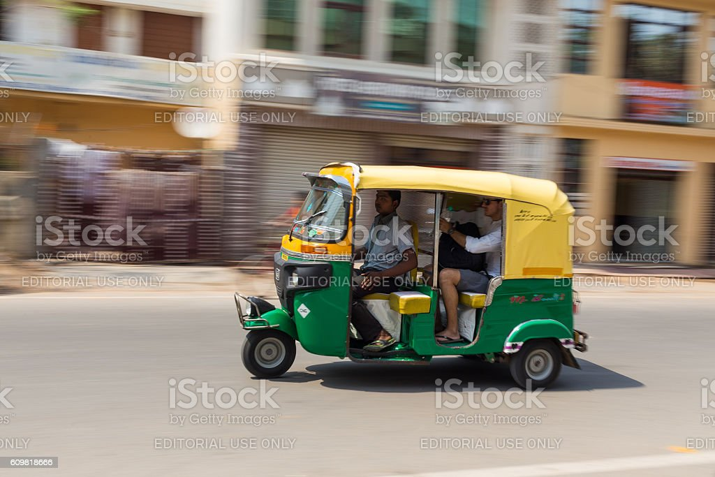 Tuk Tuk Rickshare in Agra stock photo