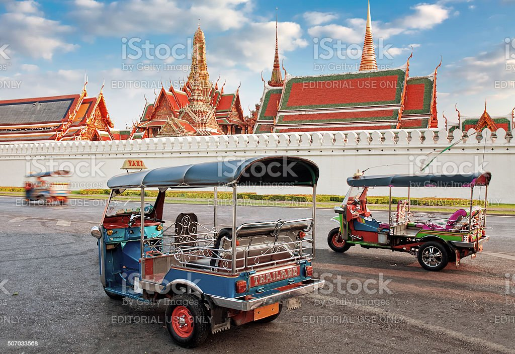 Tuk Tuk taxi in Bangkok stock photo