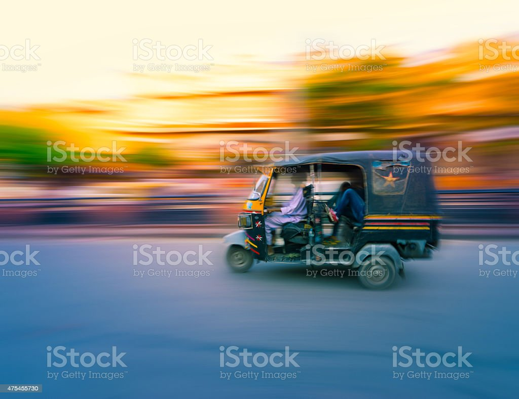 Tuk Tuk Taxi India stock photo