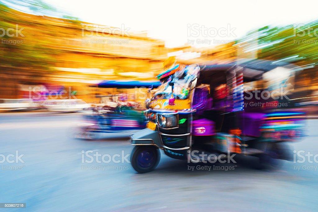 Tuk Tuk Taxi India stock photo