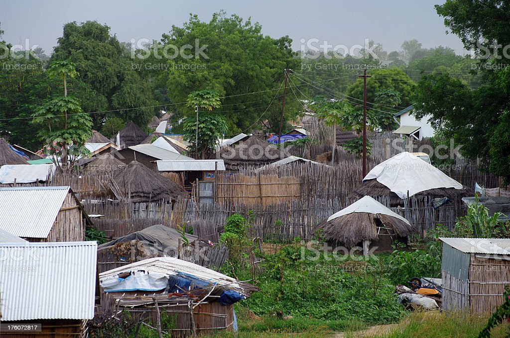Tukols in Juba, Southern Sudan stock photo