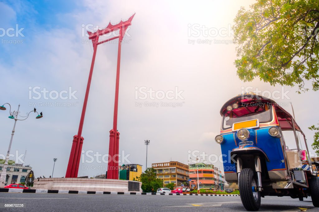 tuktuk in Bangkok stock photo