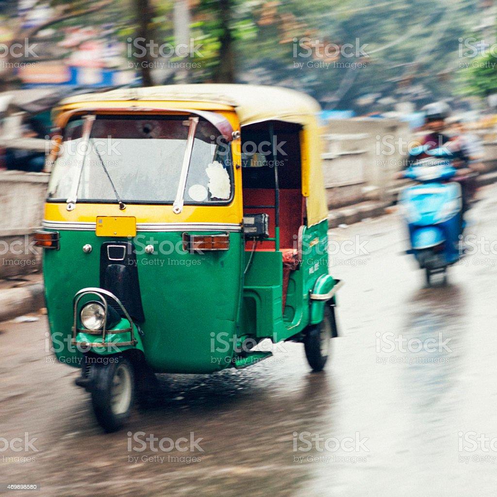 Tuk-Tuk in Blurred Motion stock photo