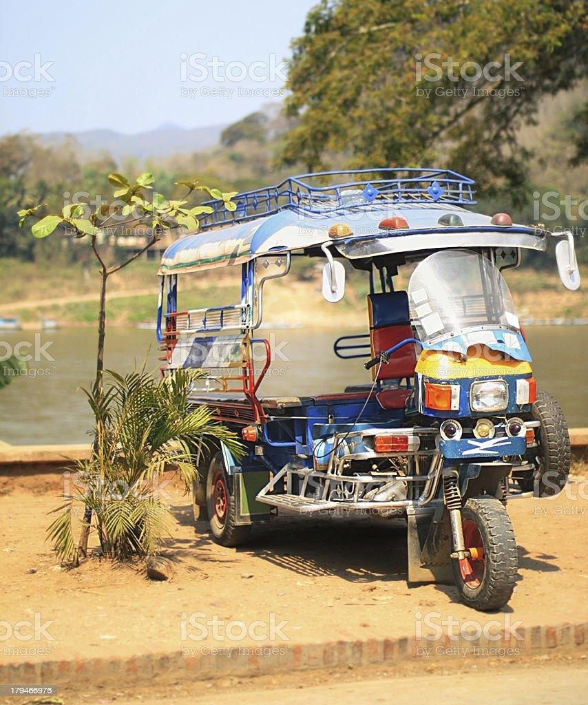 tuktuk in luang prabang royalty-free stock photo