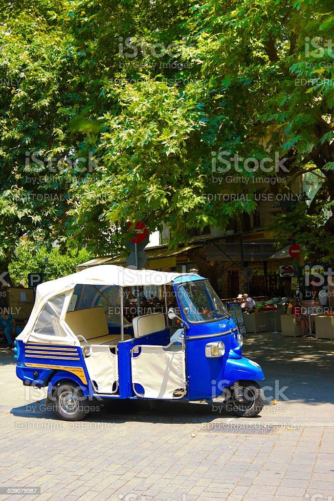 Tuk-Tuk in Olimpia, Greece stock photo