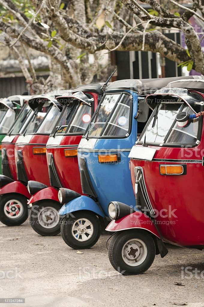 Tuk-tuk is a popular asian transport as taxi. royalty-free stock photo