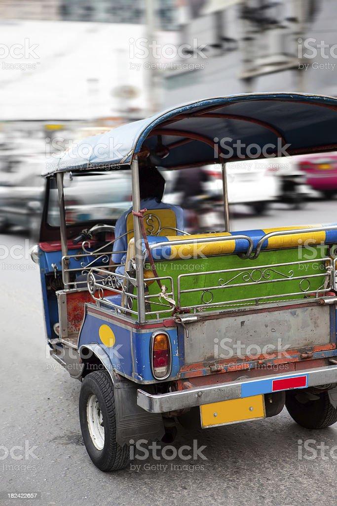Tuktuk, rickshaw in Bangkok royalty-free stock photo