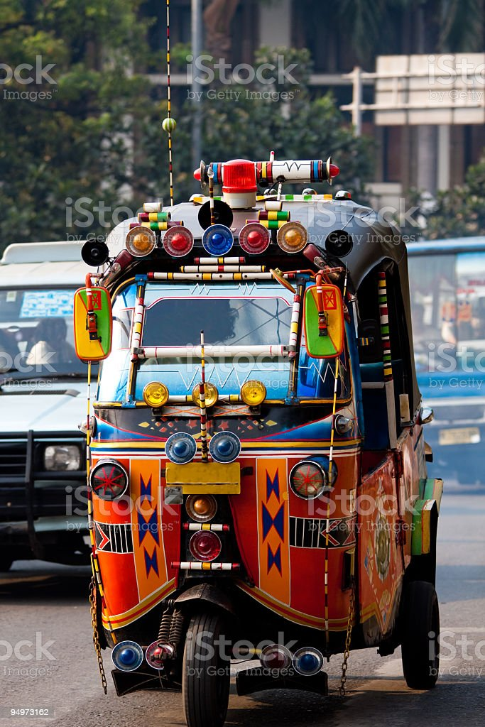 TukTuk Taxi in Jakarta, Indonesia royalty-free stock photo