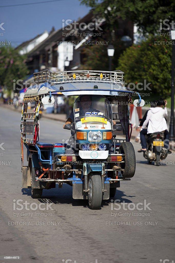 TukTuk Taxi in Luang Prabang, Laos royalty-free stock photo
