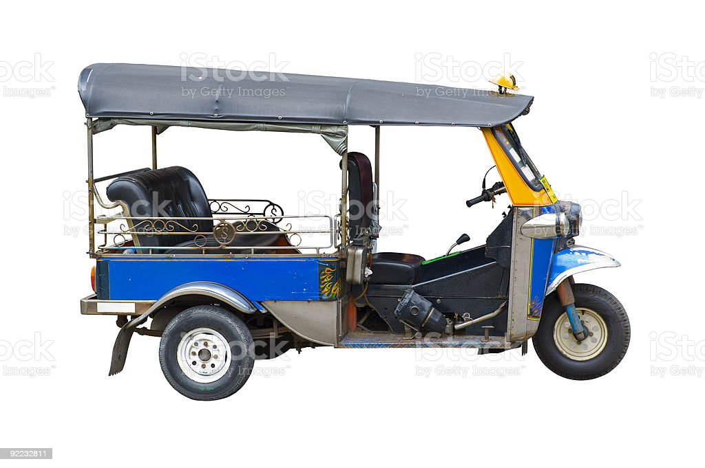 tuktuk taxi in thailand stock photo