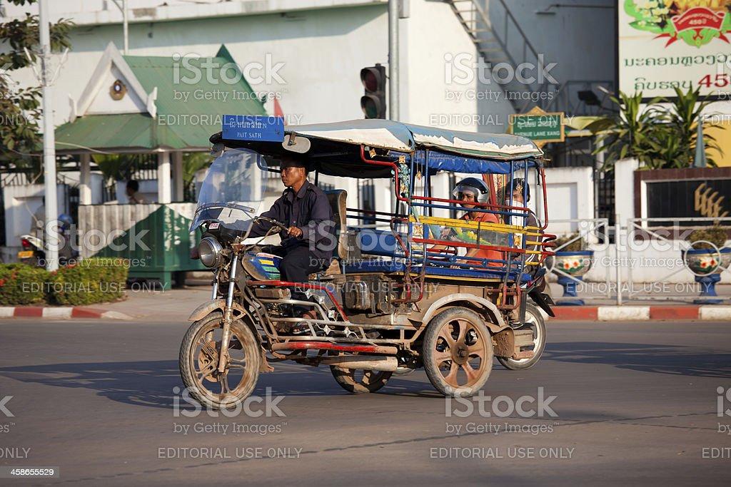 TukTuk Taxi in Vientiane, Laos royalty-free stock photo