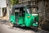 Tuktuk taxi on the street of Galle, Sri Lanka
