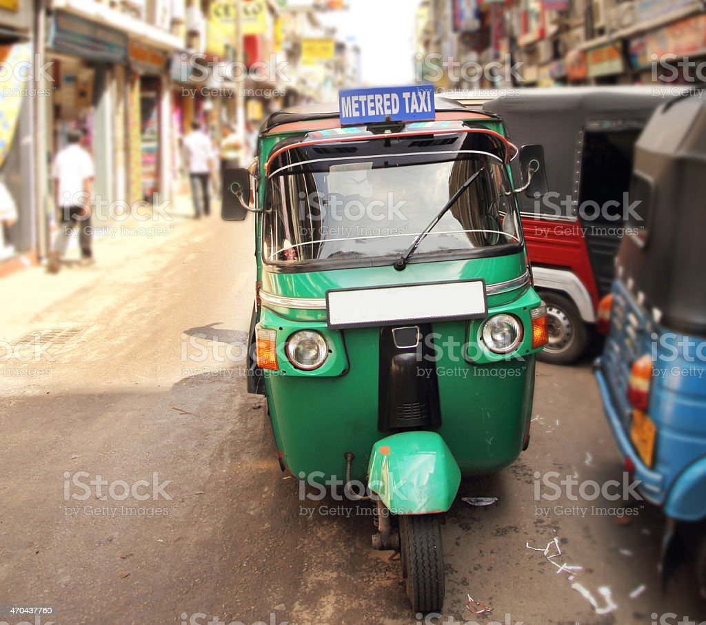 tuktuk taxi on the street stock photo