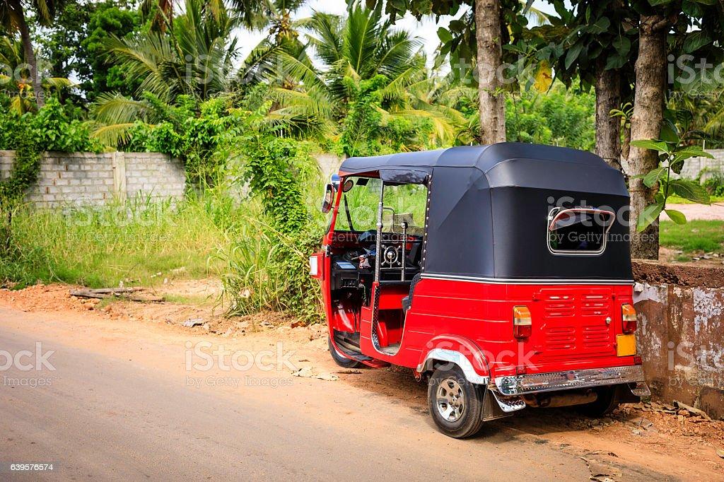 Tuktuk taxi on the street, Sri Lanka stock photo