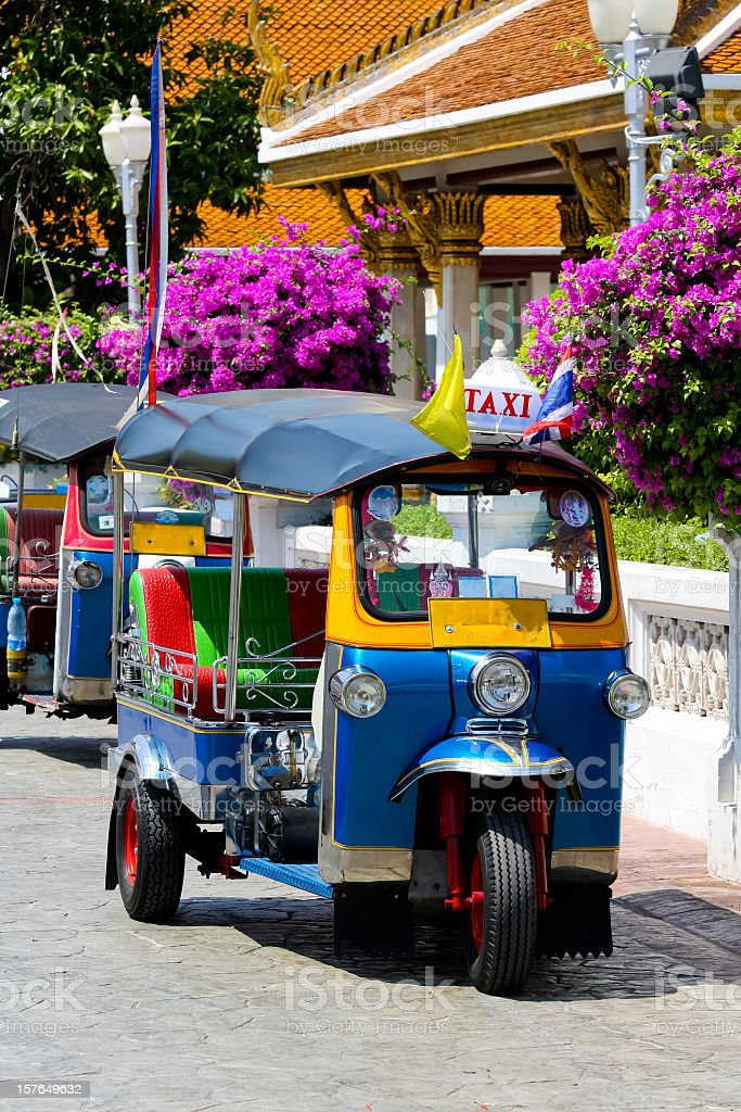 Tuktuk, traditional taxi in Bangkok, Thailand stock photo