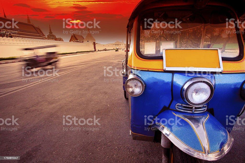 tuktuk vehicle symbol of  thailand stock photo