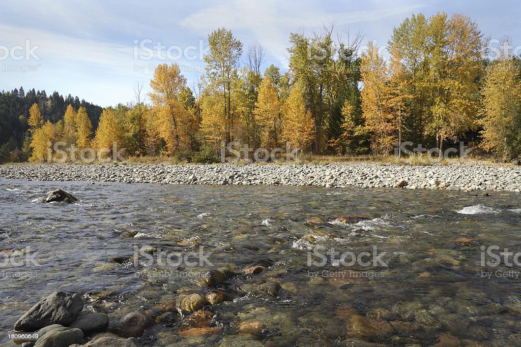 Tulameen River Autumn Colors royalty-free stock photo