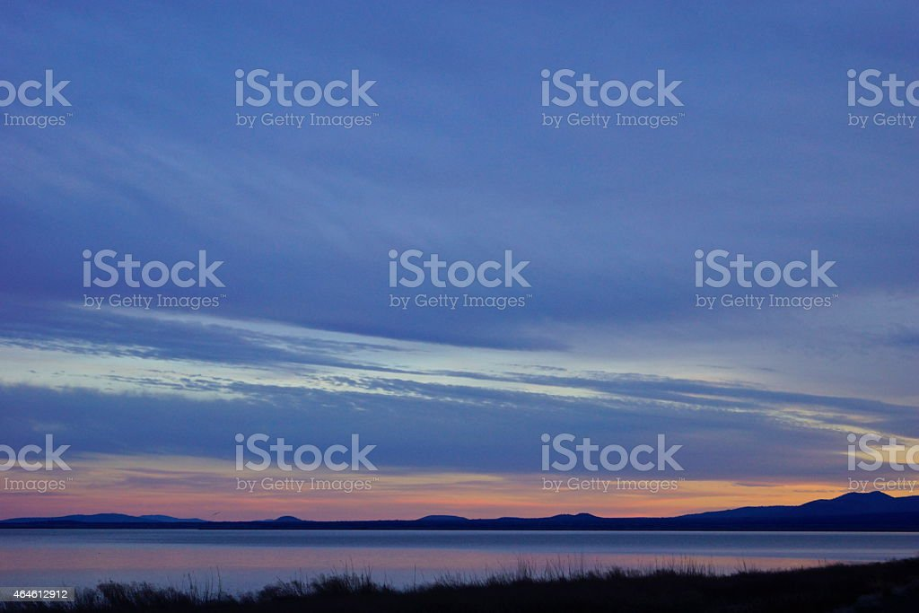 Tule Lake Sunset stock photo