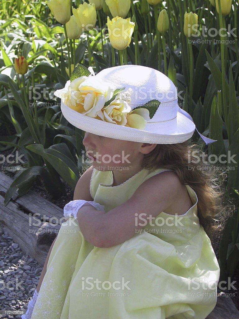 Tulip Girl 0002 royalty-free stock photo