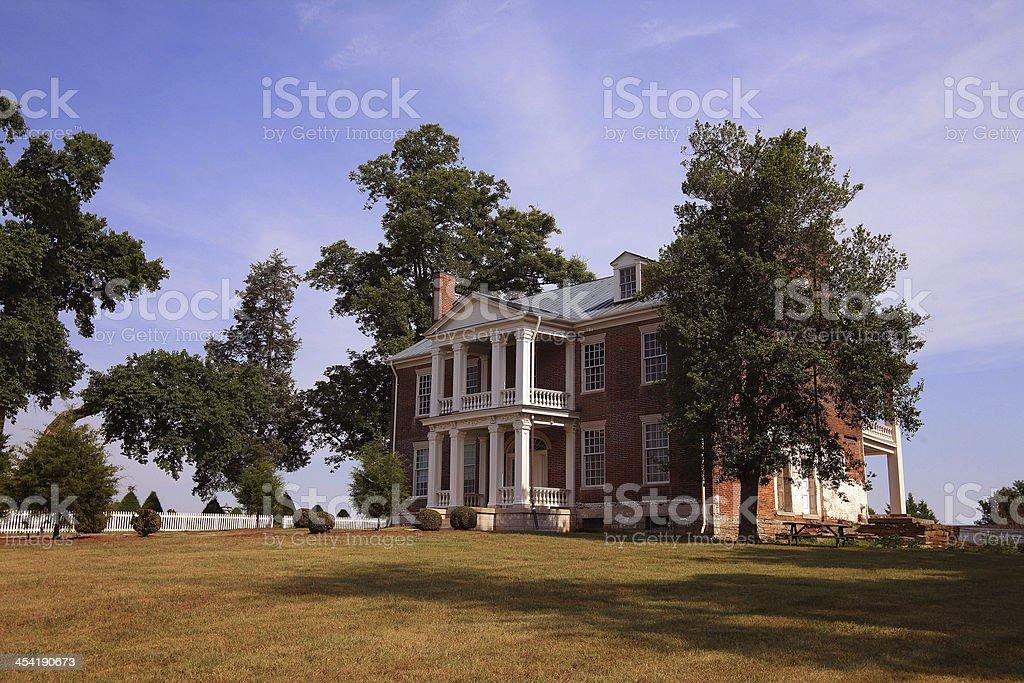 Tulip Grove Mansion stock photo