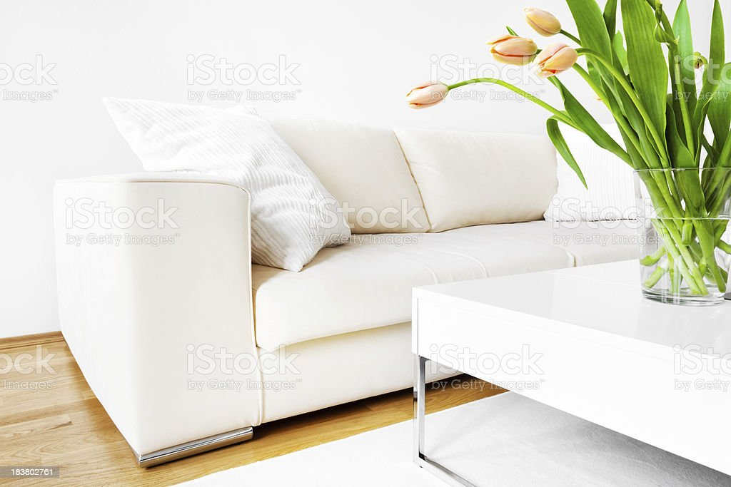 Tulips and Sofa royalty-free stock photo