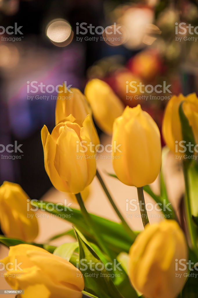 tulips in Wedding Reception stock photo