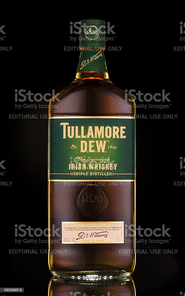 Tullamore Dew Irish Whiskey Triple Distilled stock photo