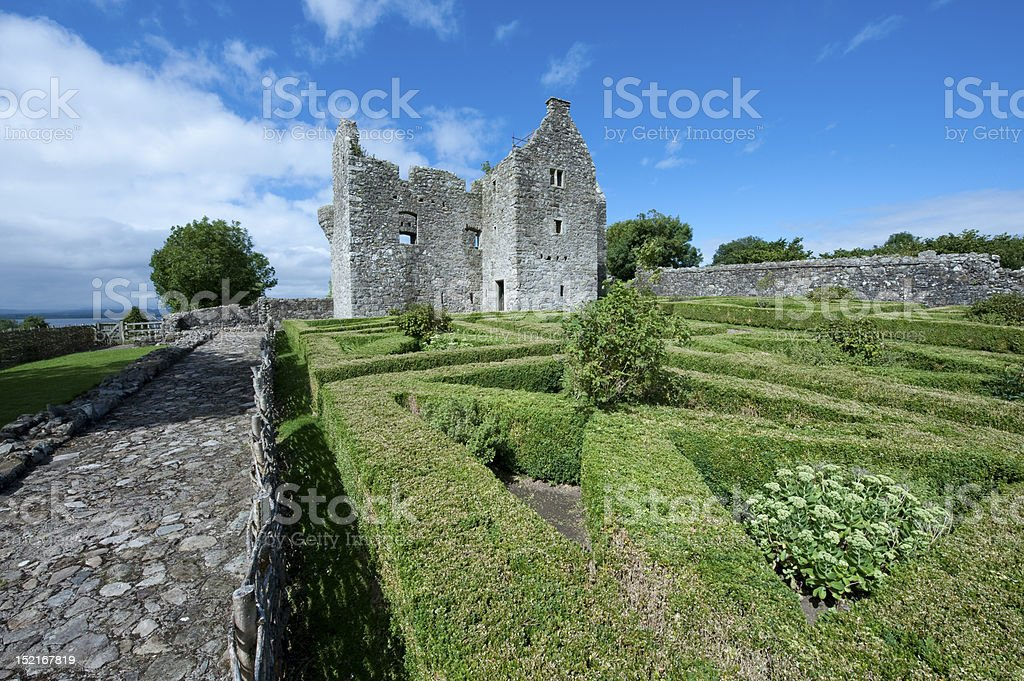 Tully Castle stock photo