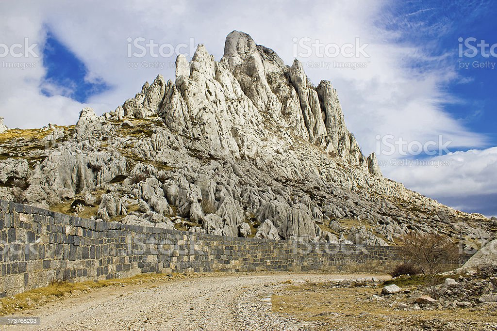 Tulove grede rocks on Velebit mountain stock photo