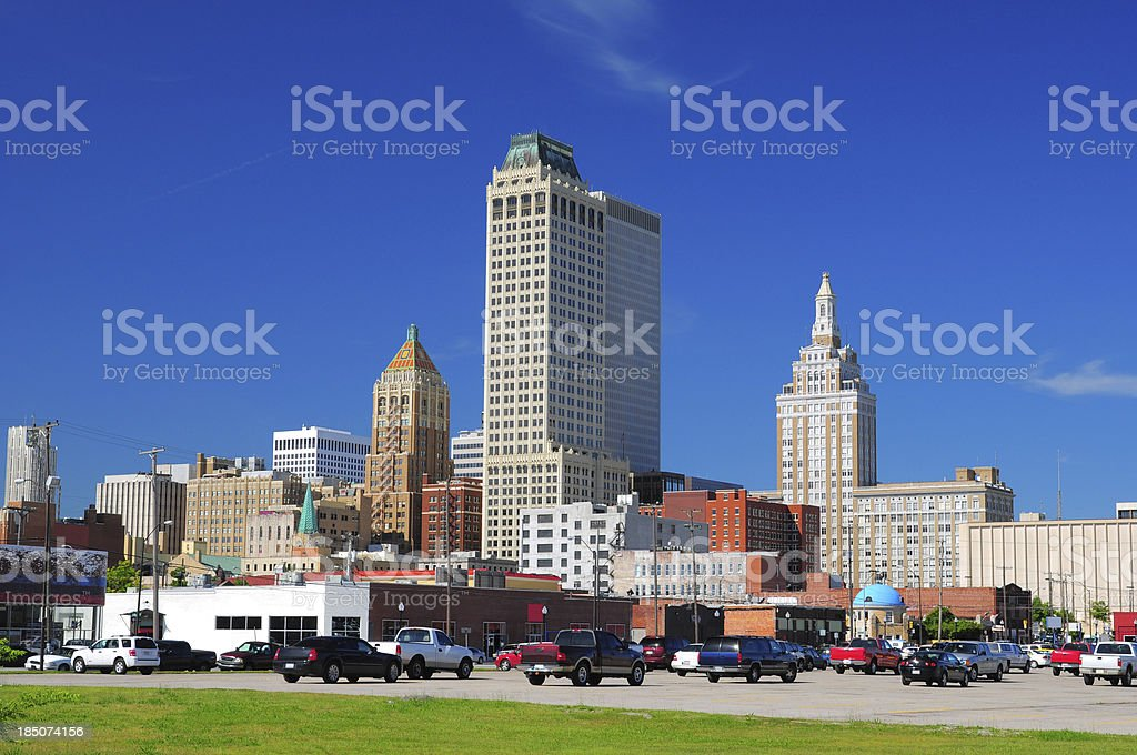 Tulsa downtown buildings royalty-free stock photo