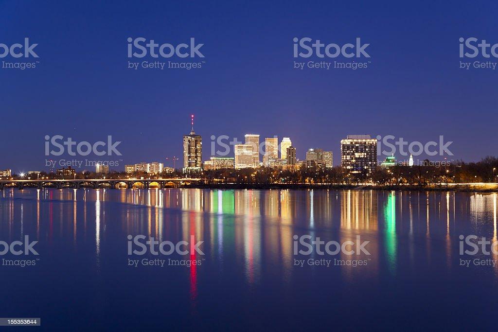 Tulsa Skyline at Twilight stock photo