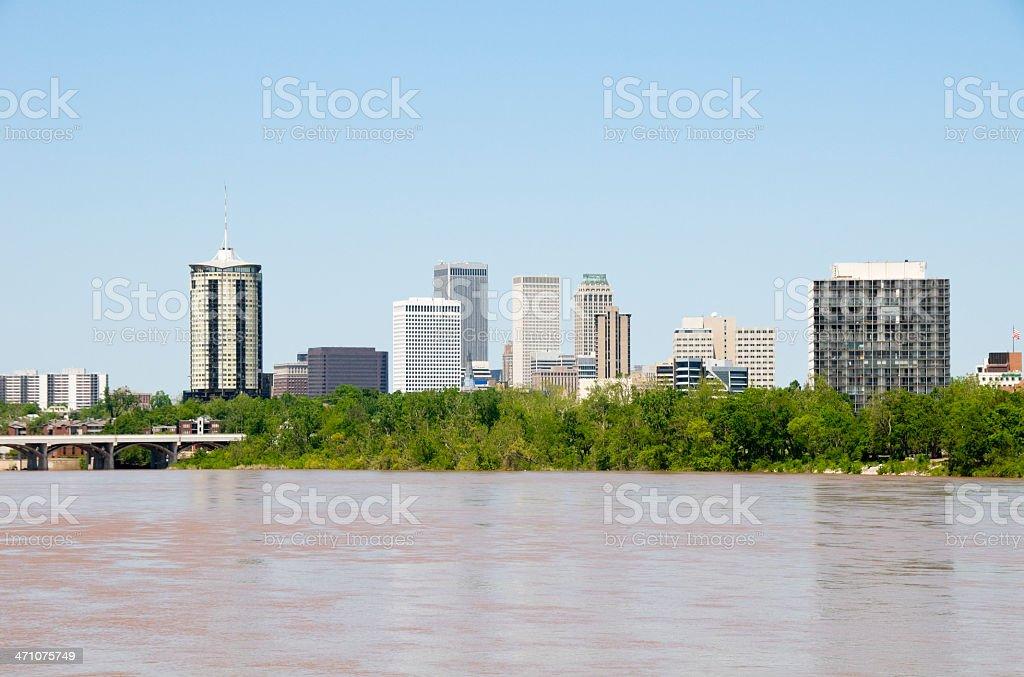 Tulsa Skyline royalty-free stock photo