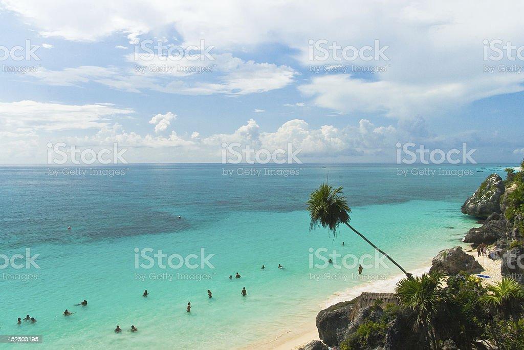 Tulum beach in Quintana Roo, México stock photo