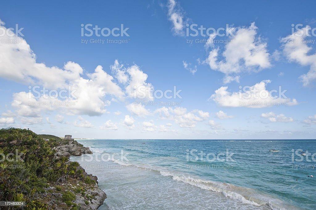 Tulum beach royalty-free stock photo