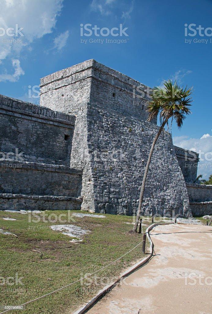 Tulum Mayan Ruins - Castillo Temple stock photo